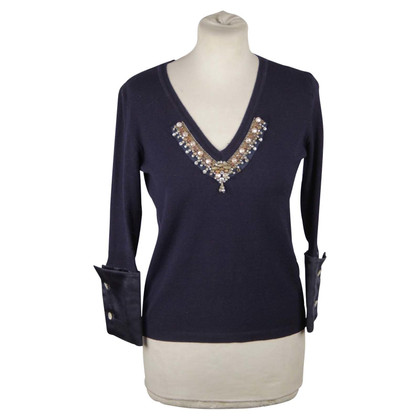 Blumarine Sweater with gemstone trim