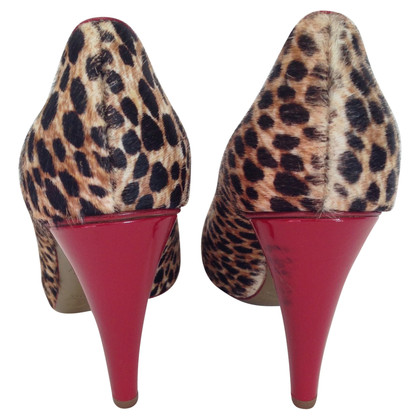 D&G Animal print calf skin pony style pumps