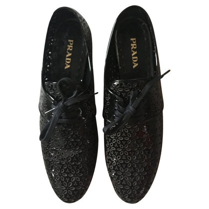 Prada Patent shoes for lacing