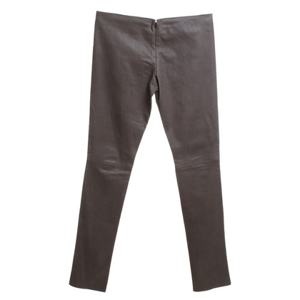 Jitrois Leather pants in stone gray