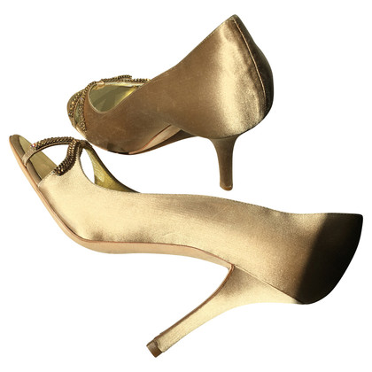 Escada Silk pumps with Rhinestone