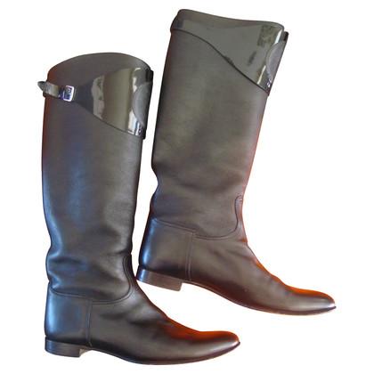 Hermès Stivali in pelle nera