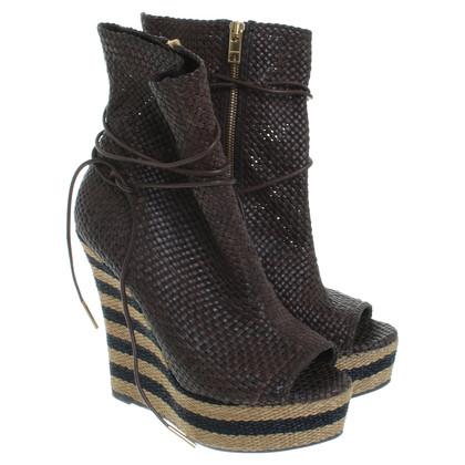 Burberry Peep-dita dei piedi con plateau in cesti ottica