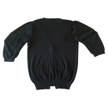 Prada PRADA cardigan nero con maniche a sbuffo