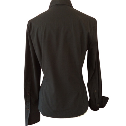 René Lezard Black blouse