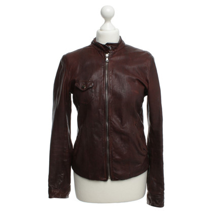 Dolce & Gabbana The used-look leather jacket