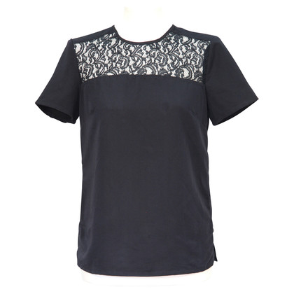 French Connection Zwarte blouse met kant