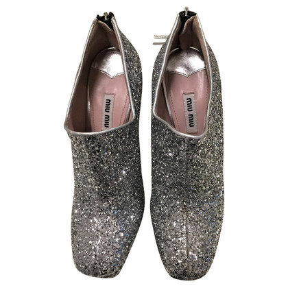 Miu Miu pumps with glitter coating