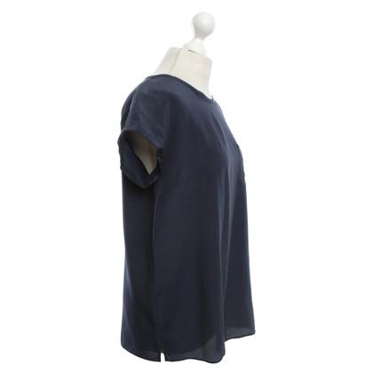 Other Designer Robert Friedman - Silk Blouse in Dark Blue