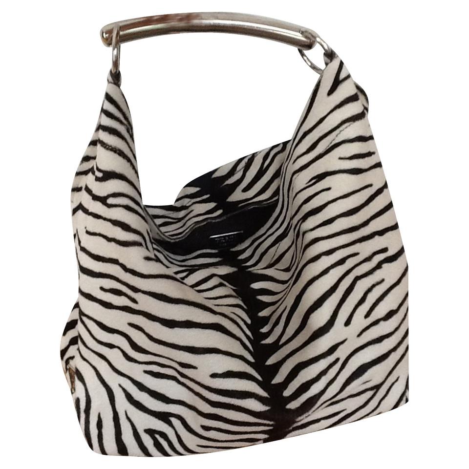 prada shoulder bag in zebra look buy second hand prada. Black Bedroom Furniture Sets. Home Design Ideas