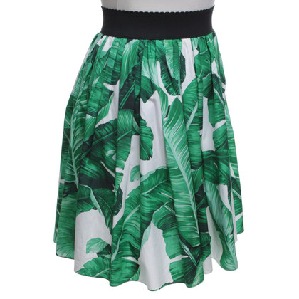 Dolce & Gabbana Summer skirt with tropical pattern