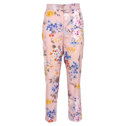 Blumarine trousers with a floral pattern