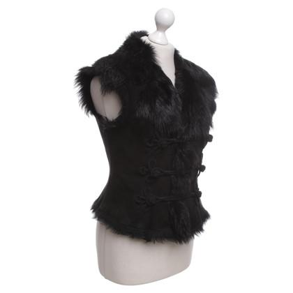 Ralph Lauren Lambskin vest in black