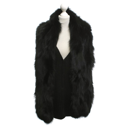 Miu Miu Knitted vest with real fur