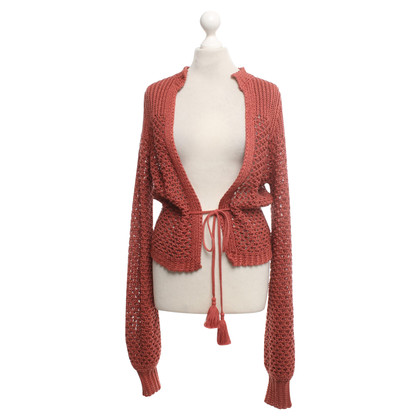 360 Sweater Strickjacke in Terracotta