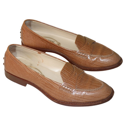 Tod's Loafer with crocodile embossing