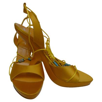 Christian Dior Sandali in giallo