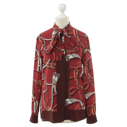 Gucci Button blouse with Motivprint