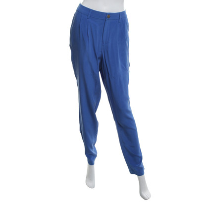 Stefanel Silk trousers in Royal