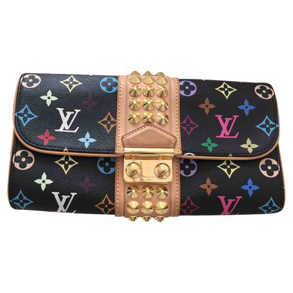 "Louis Vuitton ""Courtney Clutch Monogram Multicolore Canvas Noir"""