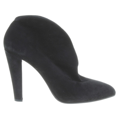Miu Miu Suede Ankle Boots in black