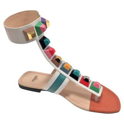 Fendi Regenbogen-Sandalen