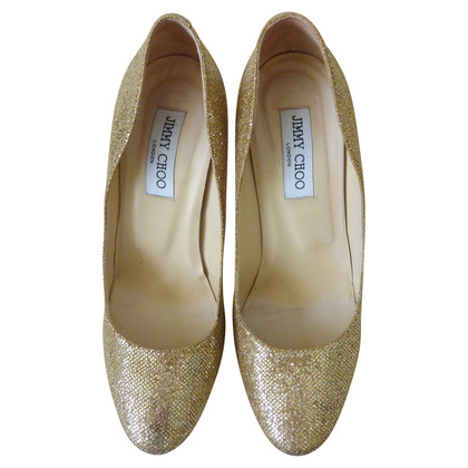 Jimmy Choo Plateau-Pumps in goud