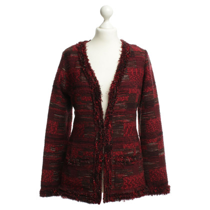 Oscar de la Renta Boucle Blazer in red