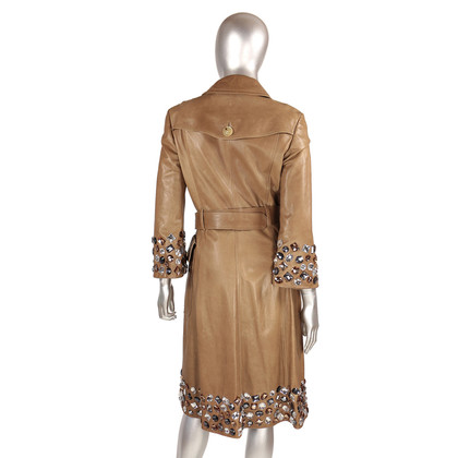 Burberry Prorsum Leather coat with semi-precious stones