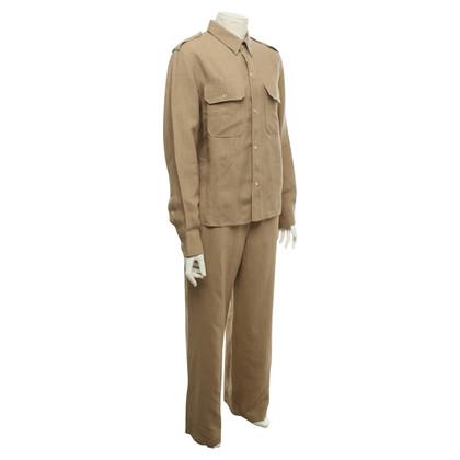 Max Mara Blouse met overhemd en broek gemaakt van linnen