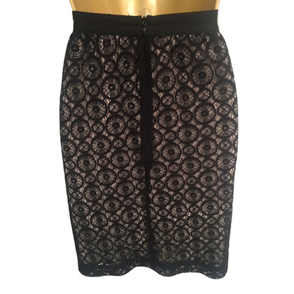 Noa Noa Black Lacy Pencil Skirt