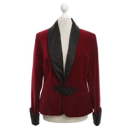 Ralph Lauren Velvet giacca sportiva in rosso