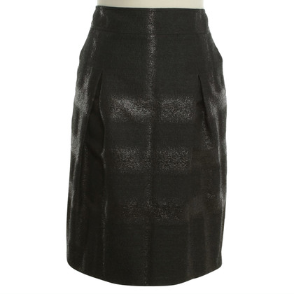 Burberry Straight skirt in black