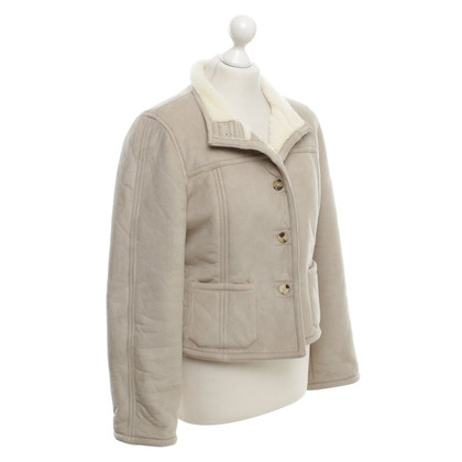 Claudie Pierlot Leather jacket in beige