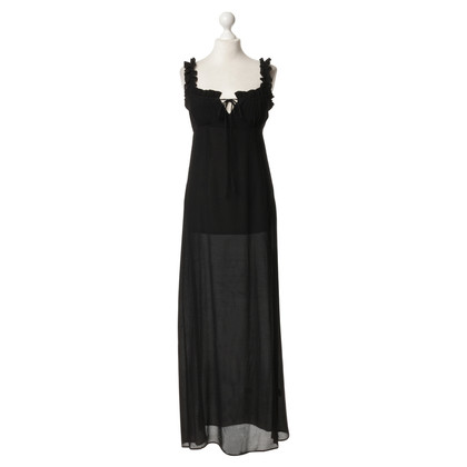 Stone Cold Fox  Silk dress in black