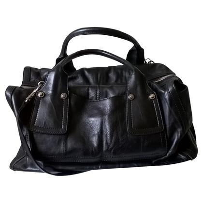 Sport Max Handtasche aus schwarzem Leder