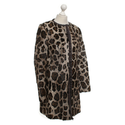Luisa Cerano Coat with leopard print