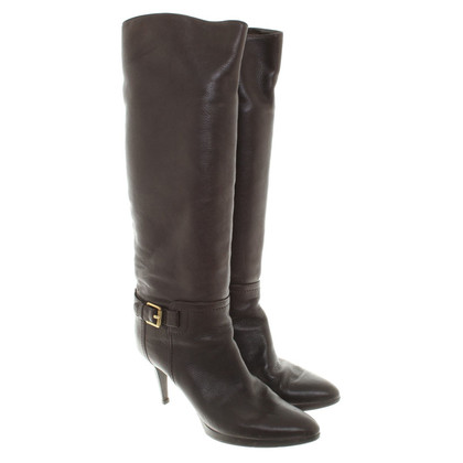 Sergio Rossi Ankle boots in dark brown
