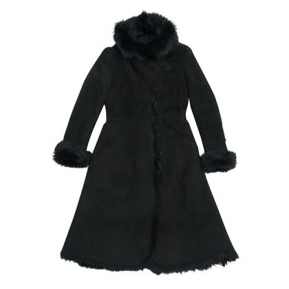 Alexander McQueen black fur fr38
