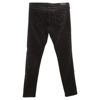Adriano Goldschmied Velvet pants in anthracite