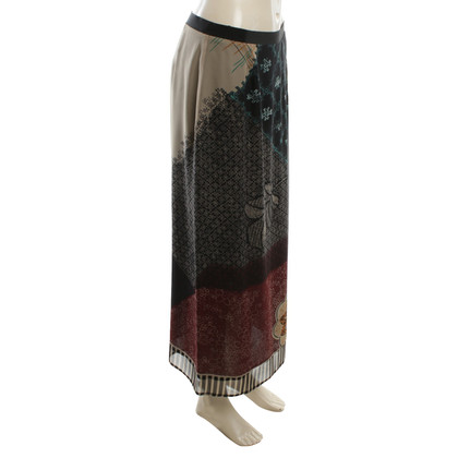 Etro Silk skirt in bicolor