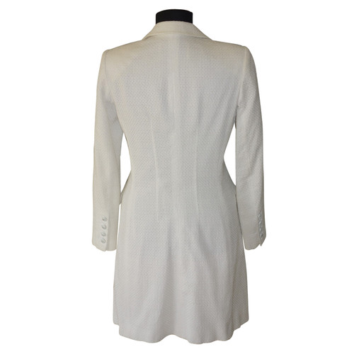 best website dd963 3c3f0 Ermanno Scervino Coat in white - Second Hand Ermanno ...