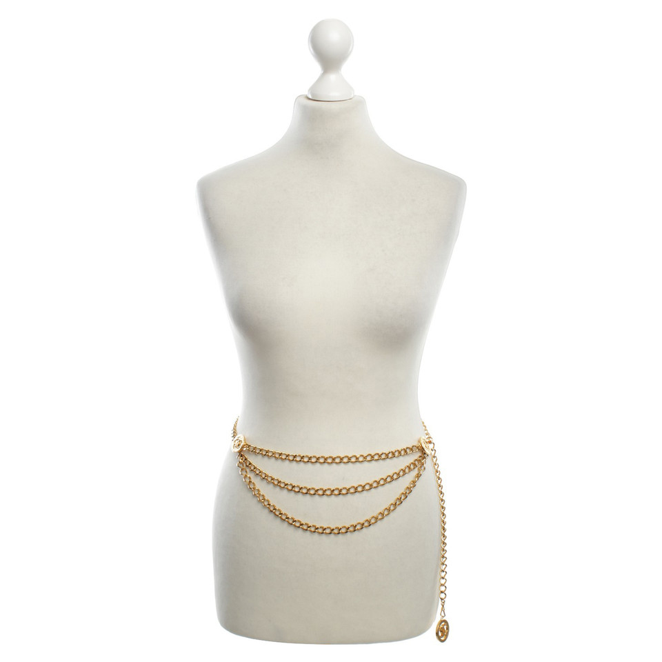 Chanel Gold colored link chain belt