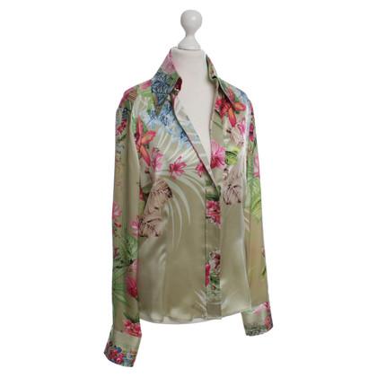 Roberto Cavalli Silk blouse with print