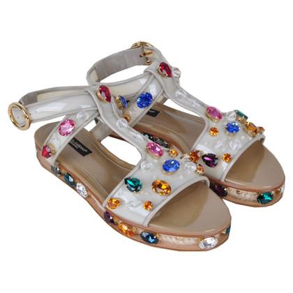 Dolce & Gabbana RUNWAY strass sandalen Beige