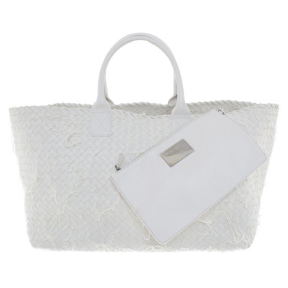 "Bottega Veneta ""Cabat Bag"" in white"