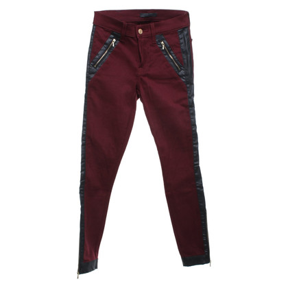 7 For All Mankind Pantalon à Bordeaux