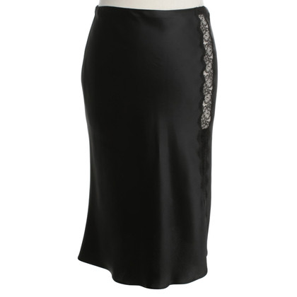 Blumarine Satin skirt with lace