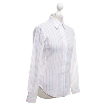 Loro Piana Linnen blouse met patroon
