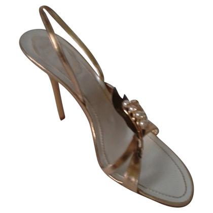 René Caovilla sandali color oro